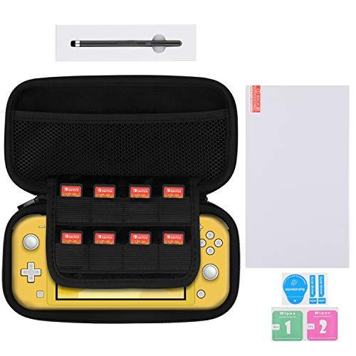 BUBM Tragetasche für Nintendo Sswitch Lite 2019 Hartschale für Switch Lite Konsole und Zubehör [Displayschutzfolie, Stylus-Eingabestift]