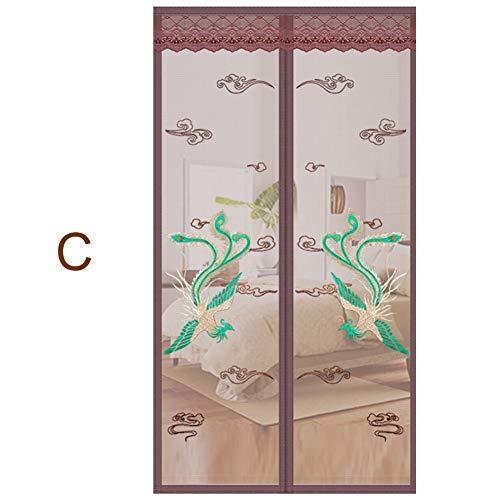 ZHANGQXIA Fliegengitter Tür,insektenschutz Tür Halten Sie Insektenschutznetze, Selbstdichtend,C,120X220cm