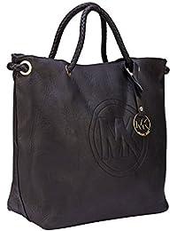 ILU Women's Handbag With Sling Bag Combo - Black