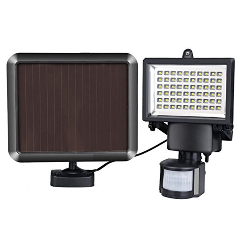 Amorphes Panel (60LED PIR Solar Fluter Sicherheit Bewegungsmelder LED Spot Outdoor)