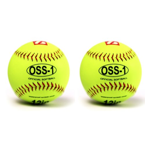 "OSS-1 Baseball Ball Training, Softball, 12"", 2 Stk"