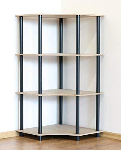 Modo24 tubo scaffale per ufficio regal keller scaffale scaffale angolare scaffale nero 4ripiani dedal 4w