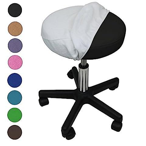 Linxor France ® Drap housse de protection en éponge pour tabouret rond - 9 coloris - Norme CE