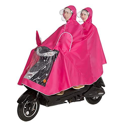 ZPWSNH Fahrradjacke Unisex Tandem Fahrrad, Ebike, Motorrad, Roller Poncho Regenmantel Schal Regenmantel (Color : Pink, Size : XXXL)
