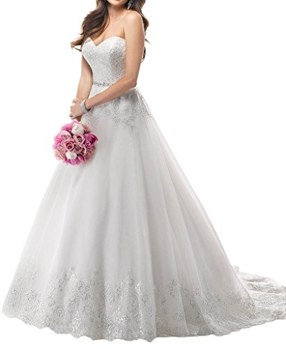 Charmant Damen Romantisch Spitze Hochzeitskleider Brautkleider brautmode Lang Prinzess Feslitch neu...