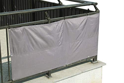 Laxllent Balcon de Privacidad,Revestimiento de Balcones,Protección UV,Resistente al Viento,Balcón, jardín, Camping y Ocio,5x0.9m,Gris