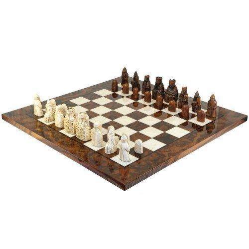 Ensemble jeu d'échecs l'île de Lewis italien Briar