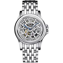 Bulova Accu Swiss Kirkwood Men's Automatic Watch with Silver Dial Analogue Display and Silver Stainless Steel Bracelet 63A123
