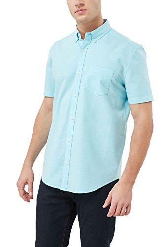 next Herren Kurzärmeliges Oxford-Hemd Aqua Blau XXXL (Aqua-hemd)
