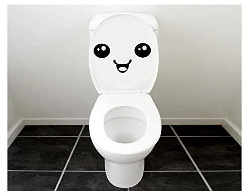 Naldesa Wandsticker WC Badezimmer Toilette Aufkleber Smilie Sticker Wandtattoo
