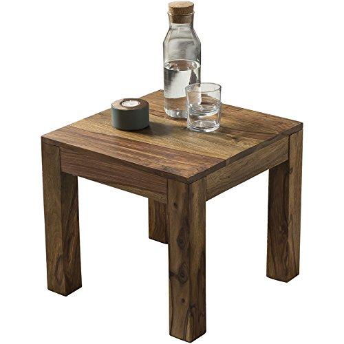 Couchtisch Massiv-Holz Sheesham 45 cm breit Wohnzimmer-Tisch Design dunkel-braun Landhaus-Stil Beistelltisch Natur-Produkt Wohnzimmermöbel Unikat modern Massivholzmöbel Echtholz rechteckig
