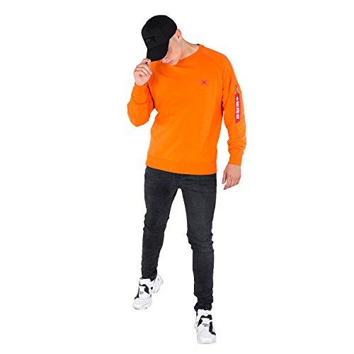 Alpha Industries Herren Sweatshirt flame orange