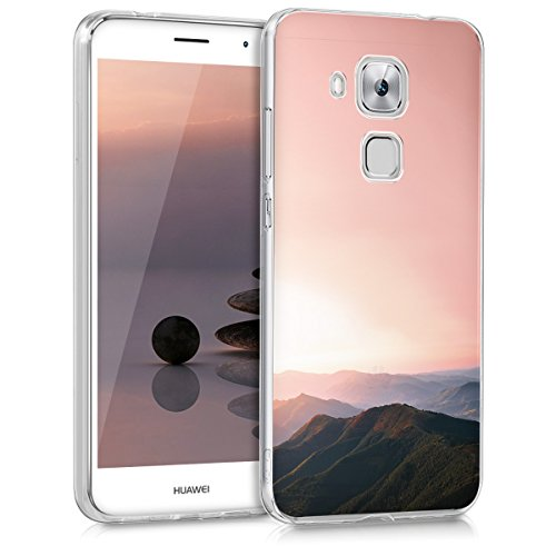 kwmobile Crystal Case Hülle für > Huawei Nova Plus < - TPU Silikon Cover im Berg Morgenröte Design