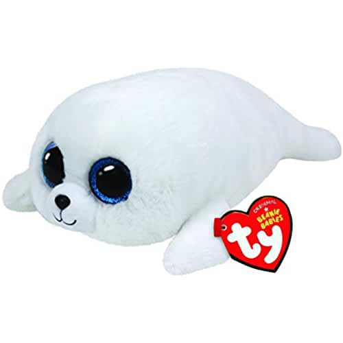peluches TY - Icy, peluche foca, 15 cm, color blanco (36164TY)