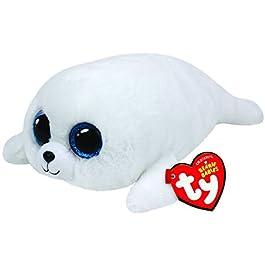 TY Beanie Boos Icy Robbe Bianco 15cm 24cm peluche morbido peluche
