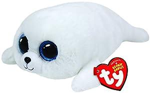 Ty - Icy, Peluche Foca, 15 cm, Color Blanco (36164TY)