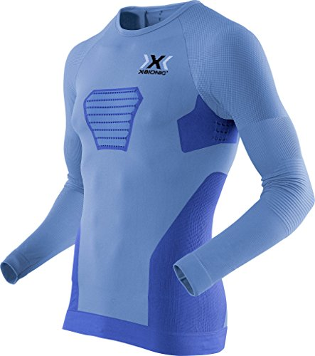 x-bionic running speed evo long-sl, maglia uomo, marina blu/anthraci, s