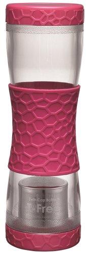 Makkuma Twin Cap Bottle pink free 500ml AA0064 (japan import)