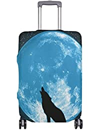 Preisvergleich für COOSUN Howling Wolf Print-Reise-Gepäck Schutzabdeckungen Waschbar Spandex Gepäck Koffer Cover - Passend für 18...