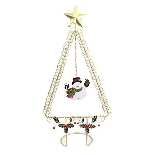 50cm Kartenhalter Clip Halter Memo Clip Kartenhalter Ständer Christmas Wire Tree mit Star Top Xmas hält 50 Karten, Gold -