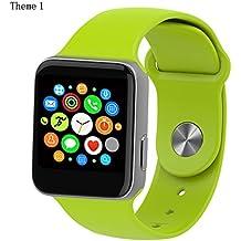luoov Hombres y Mujeres Bluetooth Smart reloj cámara de deportes saludable muñeca de Impermeable inalámbrica Teléfono de reloj & # x3010; Verde & # x3011;