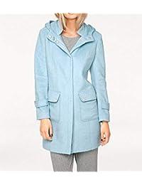 MONA moderne Flausch-Jacke Flauschmantel feminine Schnittform Große Größe Grau