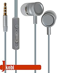 Jkobi Superior Quality Metal Body Stereo Earphone Headset Compatible For Xiaomi Mi4c -Silver