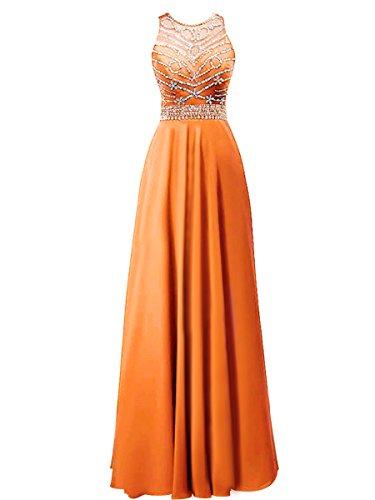 Fanciest -  Vestito  - linea ad a - Donna Orange