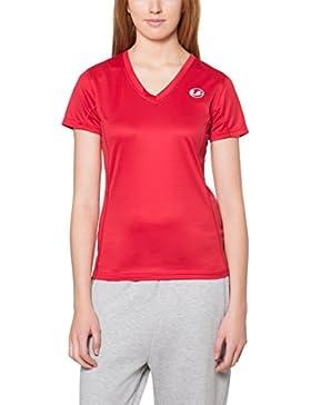 Ultrasport Kugar - Camisa deportiva para mujer, color rojo, talla XL