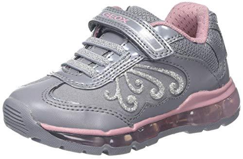 Geox Mädchen J Android Girl A Sneaker, Grau (Grey/Pink C0502), 26 EU