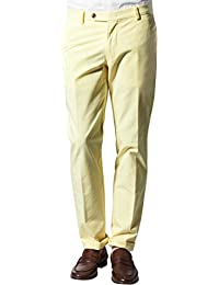 RENÉ LEZARD Herren Hose Baumwolle Pant Unifarben, Größe: 102, Farbe: Gelb
