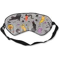 Schlafmaske, natürliche Seide, Augenbinde, super glatte Augenmaske, süßes Halloween-Cartoon-Design preisvergleich bei billige-tabletten.eu