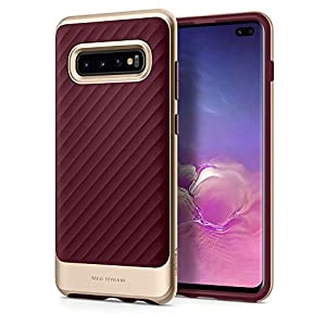 Spigen [Neo Hybrid] Galaxy S10+ Plus Case Cover with Shockproof Hard Frame and Flexible Inner Protection for Samsung S10 Plus (2019) - Burgundy