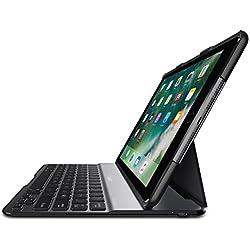 """Belkin - F5L904edBLK - Etui/Clavier """"QODE Ultimate Lite"""" pour iPad 9.7'' 2017/2018 et iPad Air (Clavier AZERTY) - Noir"""