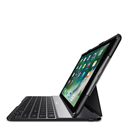 Belkin Qode Ultimate Lite Tastatur für Mobilgeräte Schwarz - Tastaturen für Mobilgeräte (Schwarz, Apple, iPad (2017) iPad (2018) iPad Air, 24,6 cm (9.7 Zoll), Batterie/Akku, 6 h)