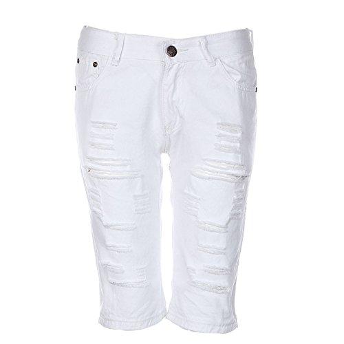ODRD Männer Jogging Hosen Männer Casual Jeans Zerstörte knielange Loch zerrissene Hose Herren Yoga Pants Yogahosen Laufhose Sweathose...