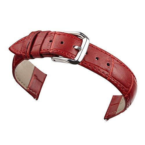 20mm rosso cinturini bande per orologi da polso delle donne