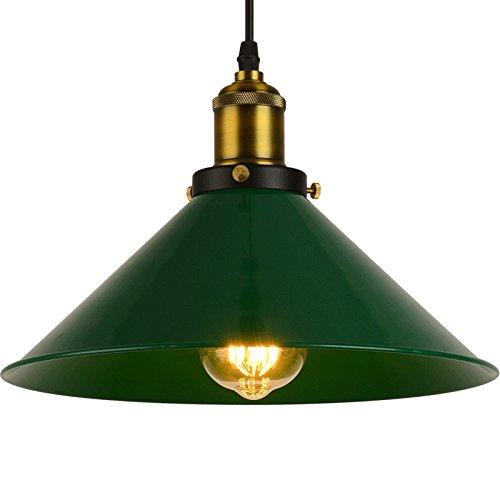 TYDXSD Vintage industriale sala da pranzo lampade e lampadari moderni nordici abiti minimalista bar lampadario personalità creative lampadario,verde 30cm