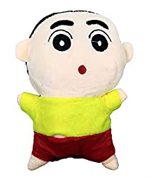 A-Mart soft toy shin chan yellow red 8 inch