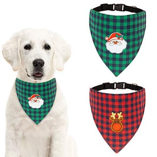 SCENEREAL Halstuchband für Hunde, mit Weihnachtsmotiv, 2 Stück -