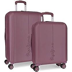 Pepe Jeans Glasgow Juego de maletas, 70 cm, 115 litros, Rojo