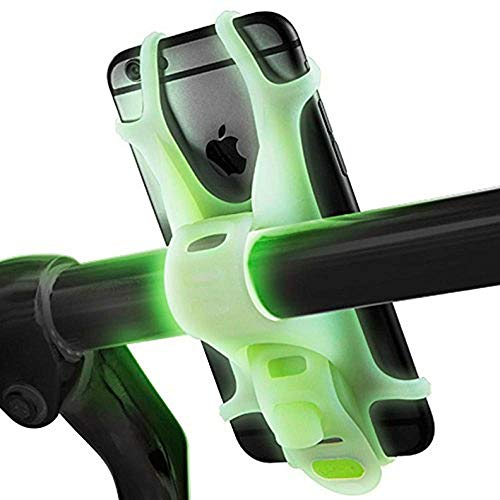 ZZASS Lumi Bike Phone Mount Holder for iPhone, Samsung, LG, HTC ? Fits All Devices with 4-6 Inch Screen (Glow In The Dark Bicycle Mount) (4 Mount Bike Iphone)