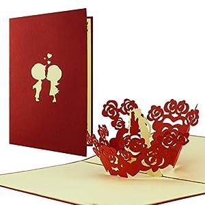 Carte Saint Valentin avec amoureux