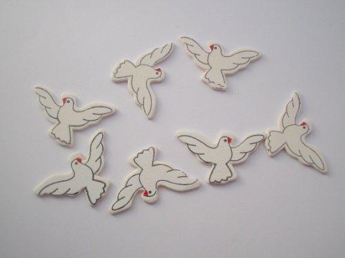 Streuteile Tauben weiß -