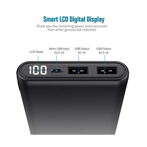 Trswyop Power Bank 24800mAh, 【Ultima Versione-Ricarica Veloce】 Caricabatterie Portatile con LCD Digital Display… 2 spesavip