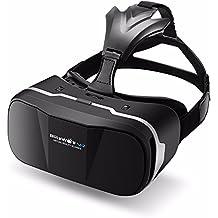 VR Gafas 3D,BlitzWolf VR Box Realidad virtua de 3,5-6,3 Pulgadas VR Cardboard Versión Mejorada para IOS iPhone SE 6 6s plus, Android Samsung Galaxy S5 S6 S7 Edge Note 4 5 (Versión Actualizada)