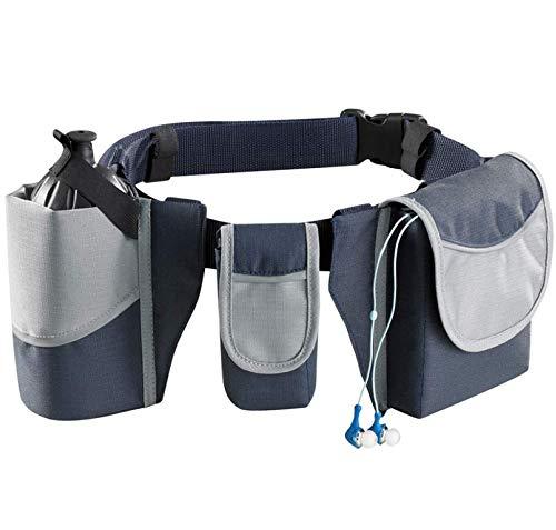 Lauf des Lebens Laufgürtel, Bewegliche Hüfttaschen, Jogging Lauftasche mit Trinkflaschen Halterung, Bauchtasche für Sport, Verstellbarer Gurt - Bauchtasche Flaschenhalter Mit