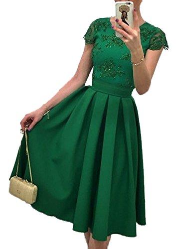 Donna Estivi Vestito in Pizzo da Vintage Vestito Elegante Vestiti Partito vestito Cocktail Vestito Verde