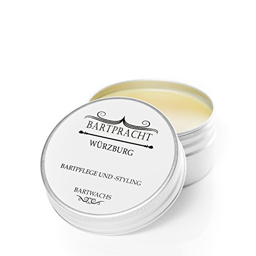 "Bartpracht Bartwachs ""Würzburg"" (würzig-herb) für Bart-Styling und Bartpflege, reines Naturprodukt, Made in Germany (50 ml), inkl. GRATIS eBook zur Bartpflege"