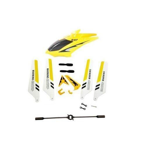 Yellow Syma S107G RC Helicopter Redress out Parts Set Headcover Significant Mailgram Blades Behind Decorations Pin Buckles Leftovers Bar Rummy the township red up with Blades Dependable flue